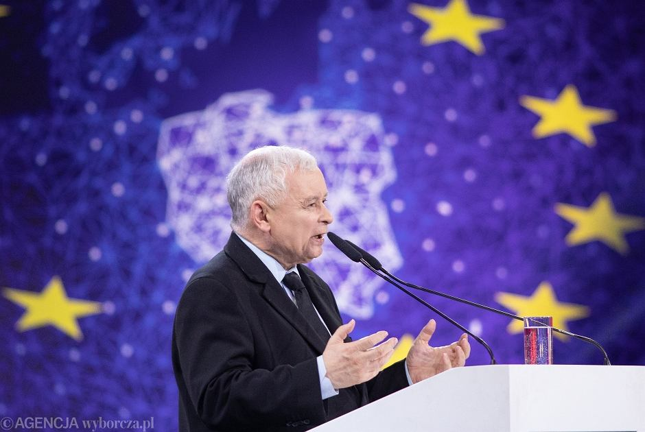 Jarosław Kaczyński na Konwencji Prawa i Sprawiedliwości w Warszawie
