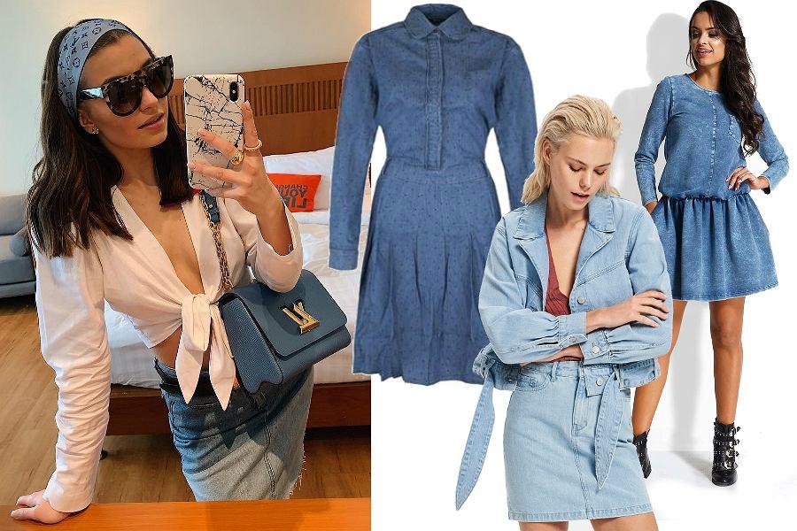Jeans na wiosnę - spódnice i sukienki