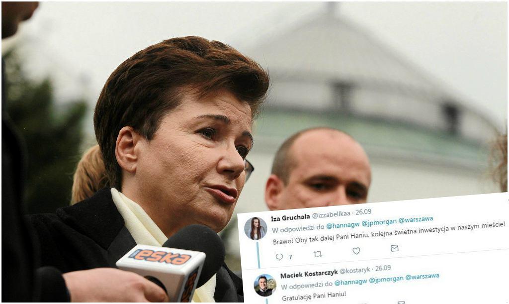Hanna Gronkiewicz-Waltz i komentarze pod jej tweetem