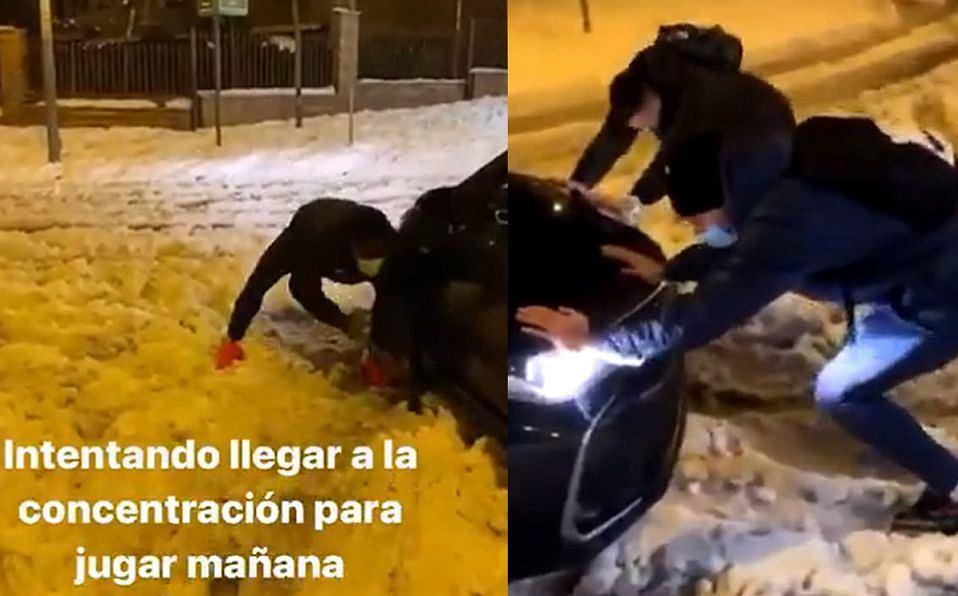 Piłkarze Getafe pchający auta wysłane przez LaLiga