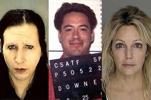 Marilyn Manson, Heather Locklear, Robert Downey Jr