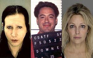 Marilyn Manson, Heather Locklear, Robert Downey Jr