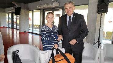 Milionowy gość na stadionie w Białymstoku. Szymon Matowski i Tadeusz Truskolaski