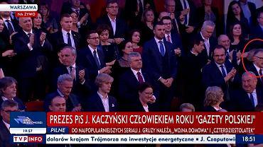 Leszek Mazur na gali 'Gazety Polskiej'