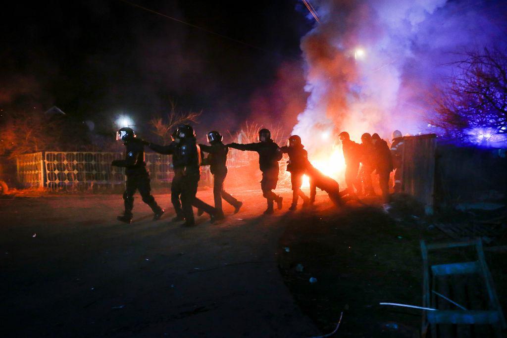 Obywatele Ukrainy wrócili do kraju. Mieszkańcy protestują