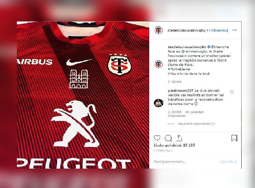 Rugbiści Tuluzy wystąpią w specjalnych koszulkach