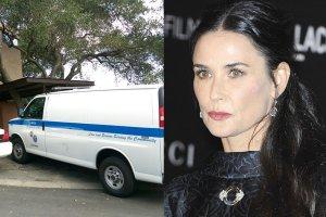 Wóz policji pod domem Demi Moore, Demi Moore