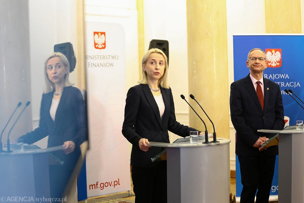 DKonferencja prasowa Ministerstwa Finansow w Warszawie w sprawie ePIT