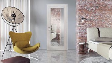 Drzwi wewnętrzne z lustrem