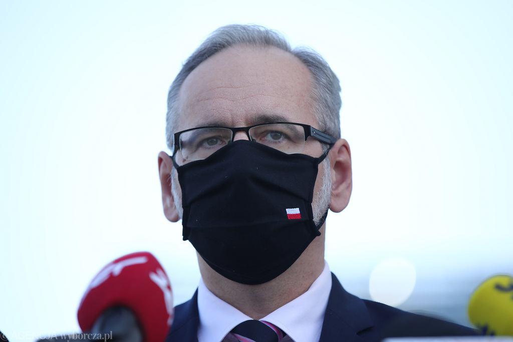 /Konferencja prasowa ministra zdrowia w Krakowie