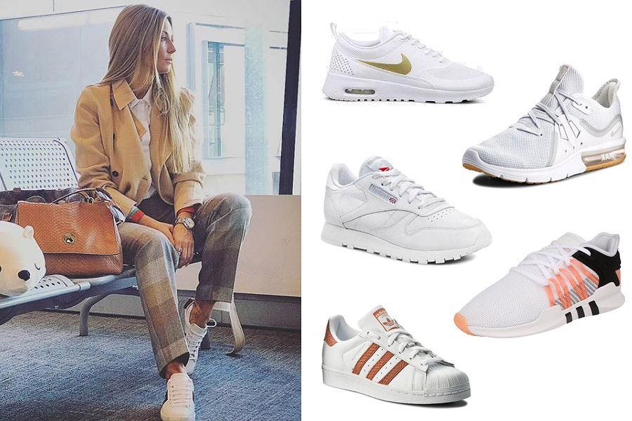 Białe buty sportowe/Materiały partnera