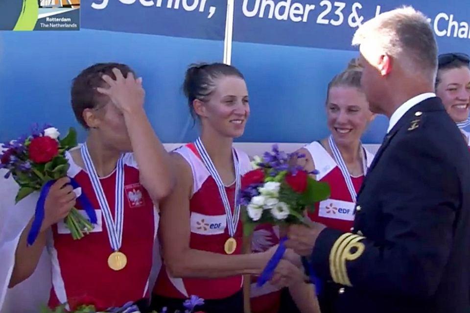 Polska wioślarska kobieca czwórka podwójna obroniła młodzieżowe mistrzostwo świata