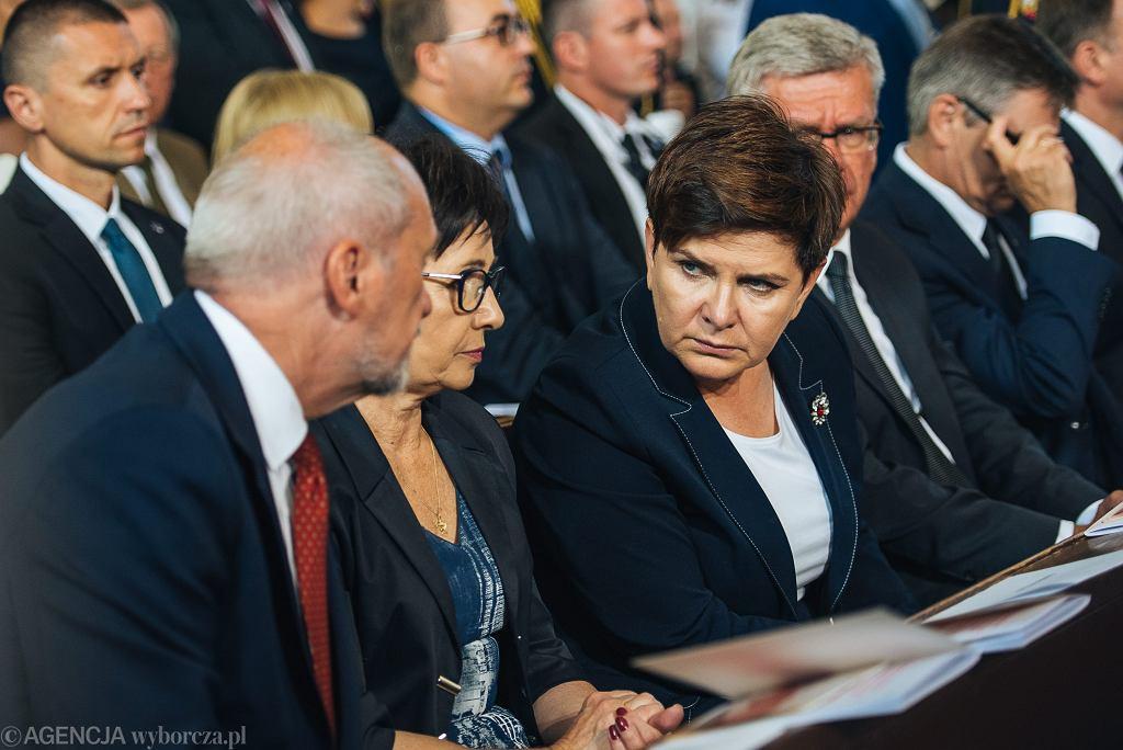 Beata Szydło na pogrzebie