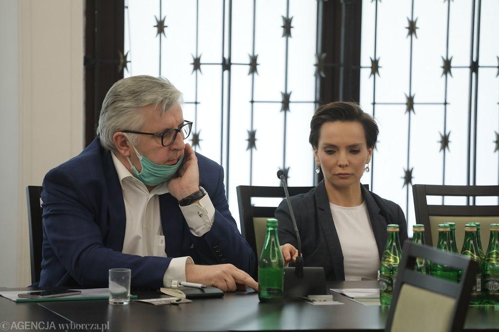 Tomasz Kowalczewski i Agnieszka Kamińska w Senacie