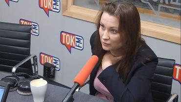Paulina Piechna-Więckiewicz w studiu TOK FM.