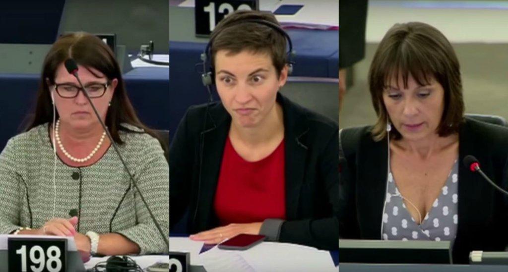 Europarlamentarzyści podczas wystąpienia Janusza Korwin-Mikkego