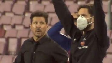 Diego Simeone przy zmianie Griezmanna