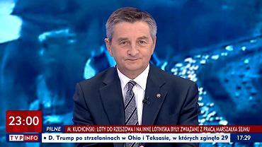 Marek Kuchciński w programie 'O co chodzi' w TVP Info