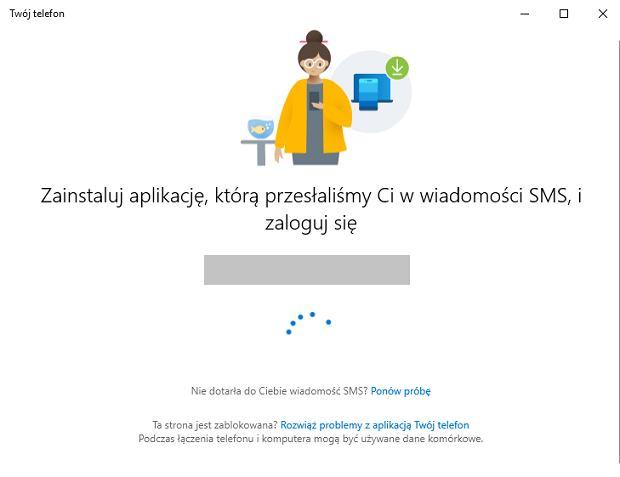 Zrzuty ekranu z aplikacji Twój telefon