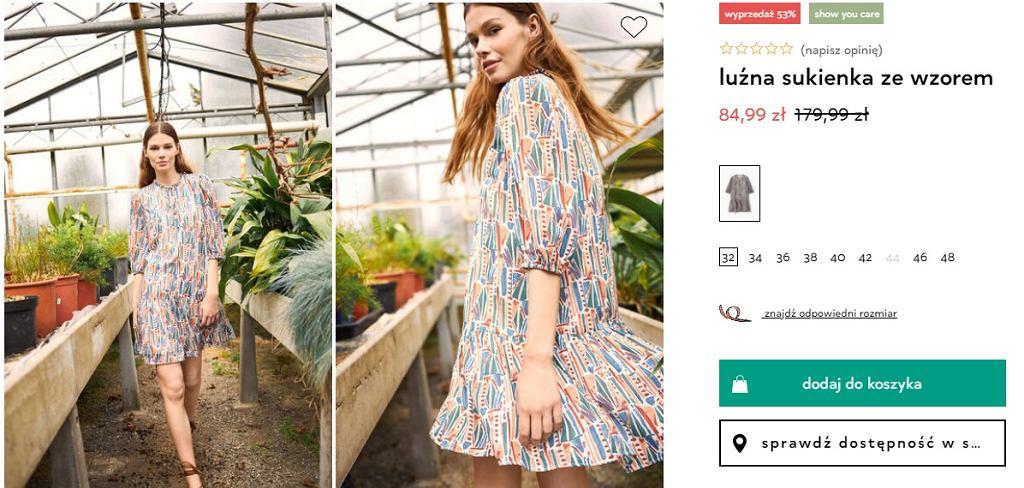 Sukienka wzorzysta Orsay