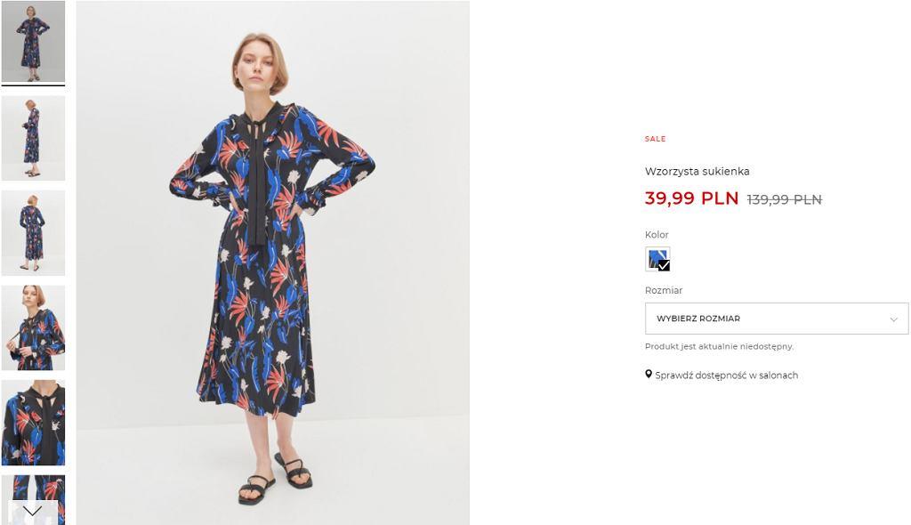 sukienka -70 procent wyprzedaż Reserved