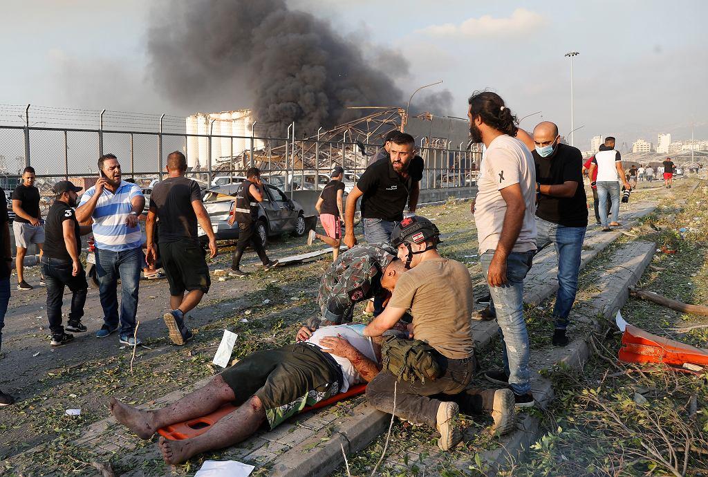 Bejrut. Eksplozja w porcie