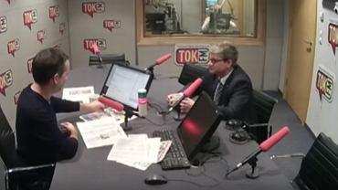 """Gościem Jana Wróbla w """"Poranku Radia TOK FM"""" był szef BBN Paweł Soloch"""