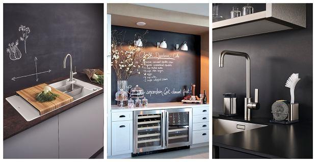 Farba tablicowa na ścianie w kuchni - inspiracje