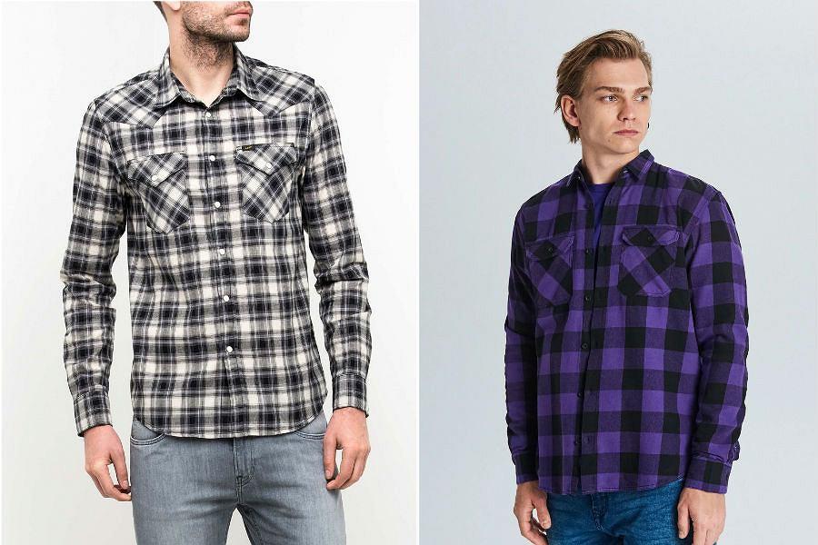 Koszule męskie w kratę