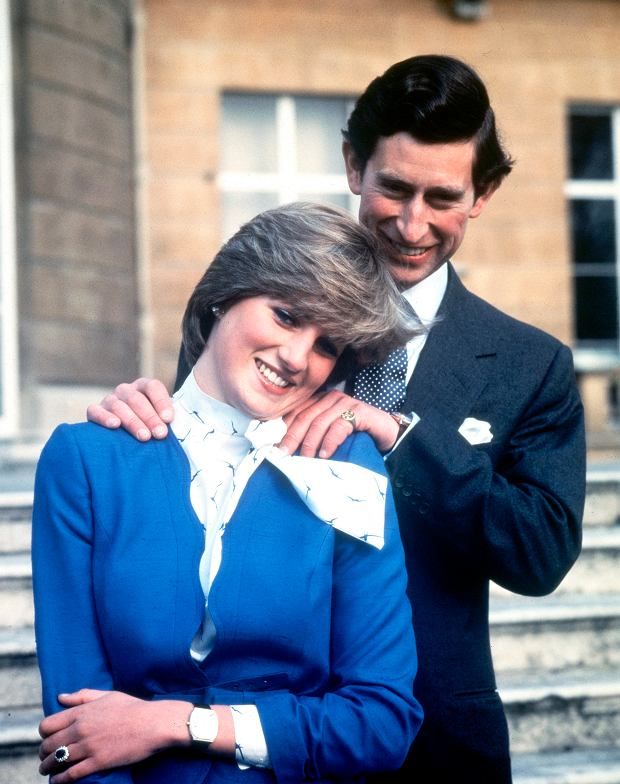 FILE - In this Feb. 24, 1981 file photo Britain's Prince Charles and Lady Diana Spencer pose following the announcement of their engagement.  Princess Diana died in a Paris car crash in 1997 after a messy divorce from Charles that for a time tarnished his standing with the British public, but as Prince Charles turns 70 Wednesday Nov. 14, 2018, he has recently taken a more visible role representing the queen at some important national events. (AP Photo/Pool, File)