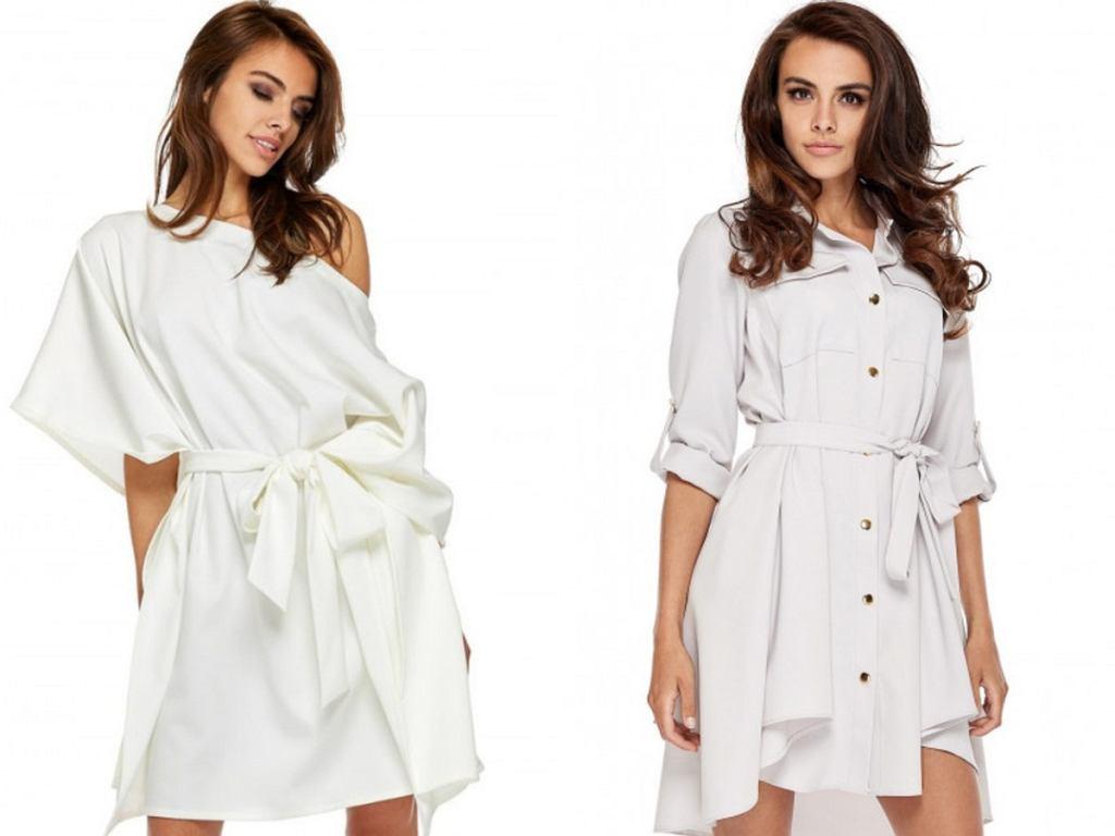białe sukienki z wyprzedaży