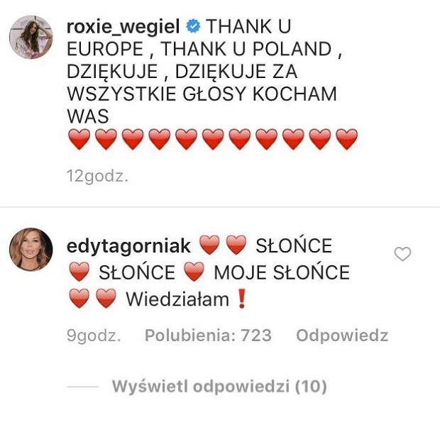 Edyta Górniak gratuluje Roxanie Węgiel