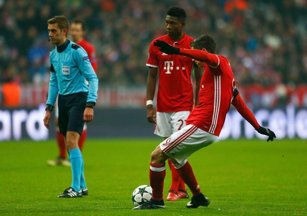 Robert Lewandowski w meczu Bayern - Atletico