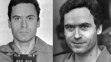 Ted Bundy - z lewej w 1979, z prawej rok wcześniej