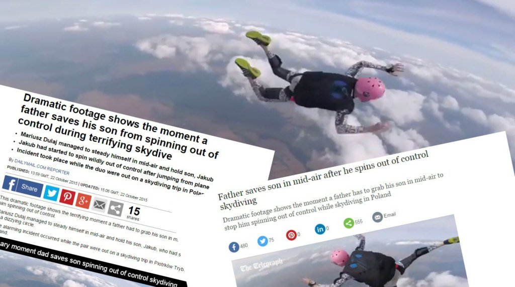 Brytyjskie media piszą o skoku spadochronowym Polaka