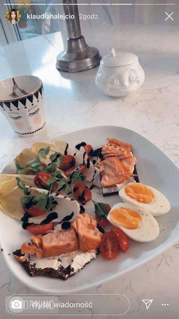 Klaudia Halejcio - śniadanie