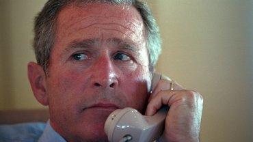George W. Bush na pokładzie Air Force One