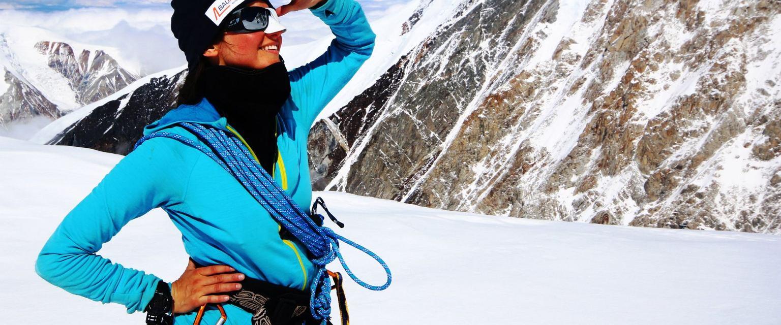 Milka Raulin wpatruje sie w szczyt Denali (fot. archiwum prywatne)