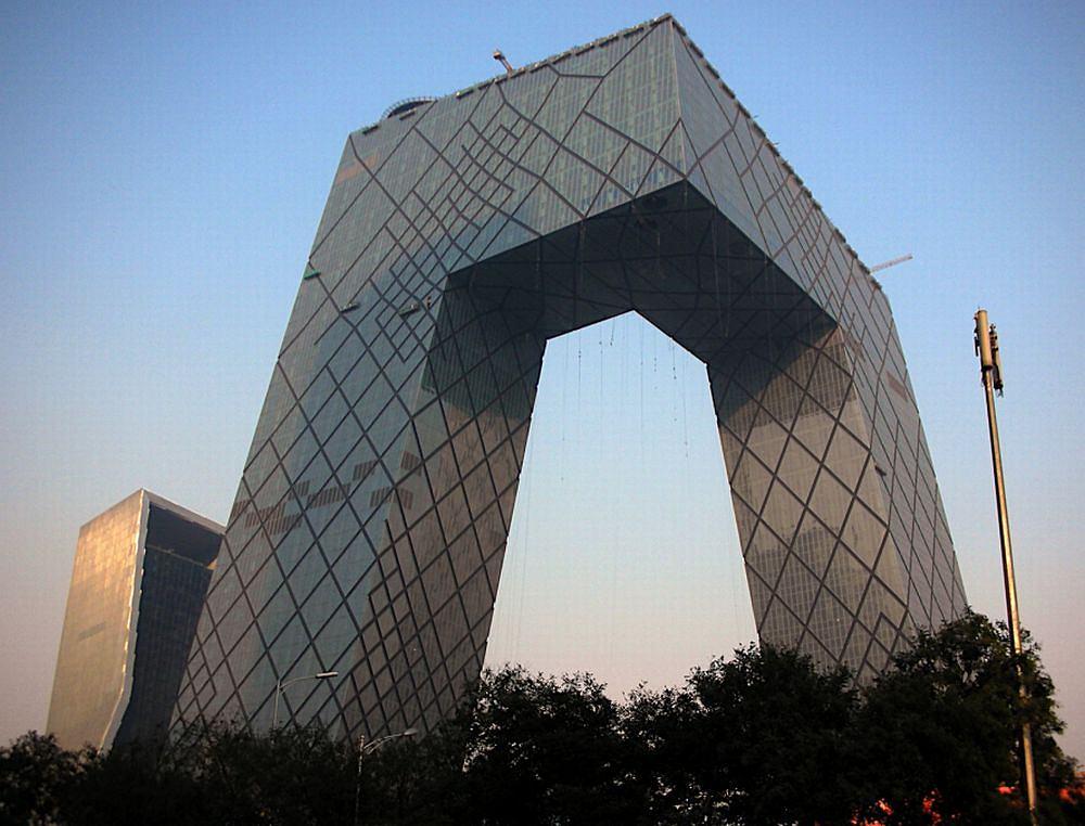Budynek chińskiej telewizji CCTV w Pekinie / Wikimedia Commons