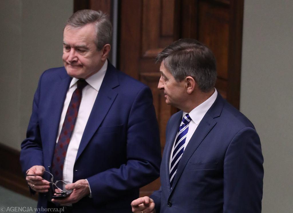 Wicepremier Piotr Gliński i marszałek Sejmu Marek Kuchciński