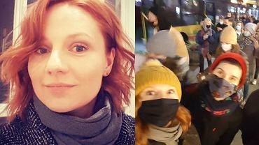 Ewelina Flinta na Strajku Kobiet
