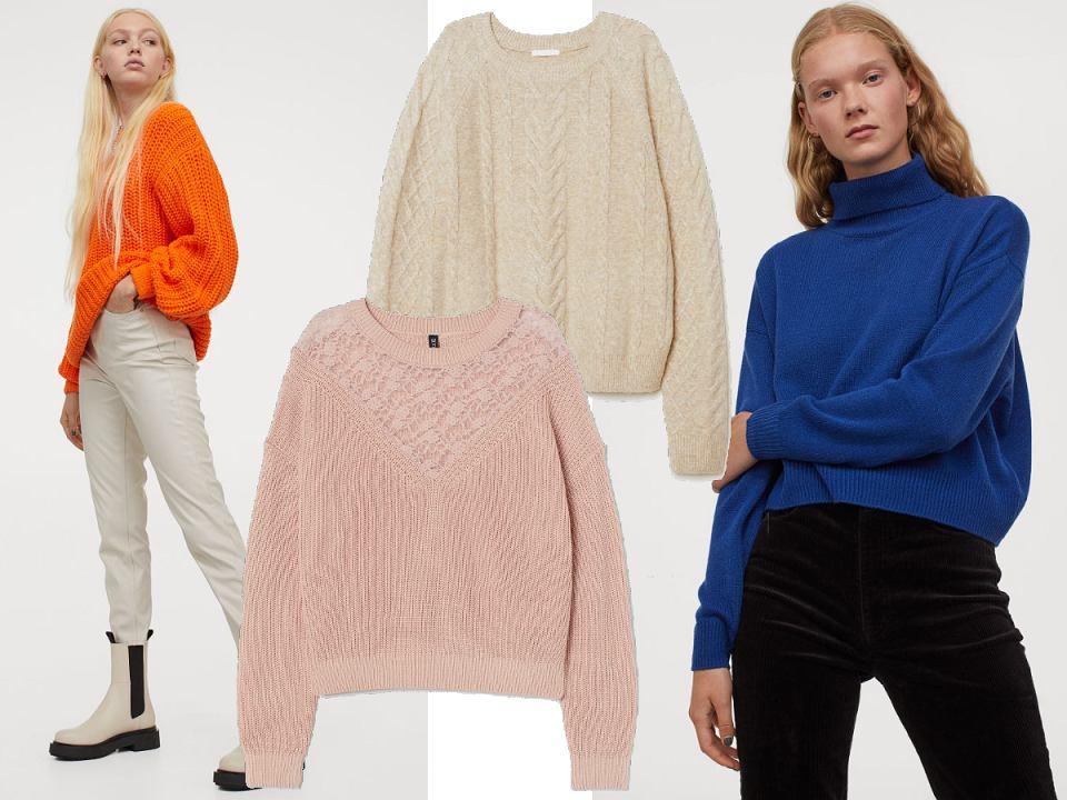 Swetry H&M z wyprzedaży