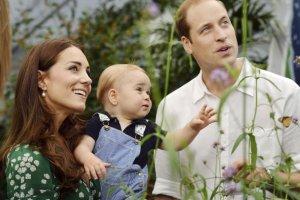 Księżna Kate, książę Jerzy i książę William