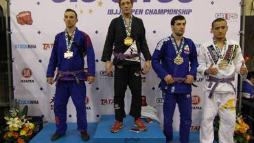 Krzysztof Suchorabski na podium