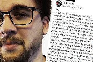 Igor Jarek, tata niepełnosprawnej córki, jest nominowany do Paszportów Polityki. Przyjęcie nagrody może przysporzyć mu kłopotów