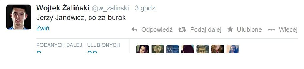 Twitter o Janowiczu