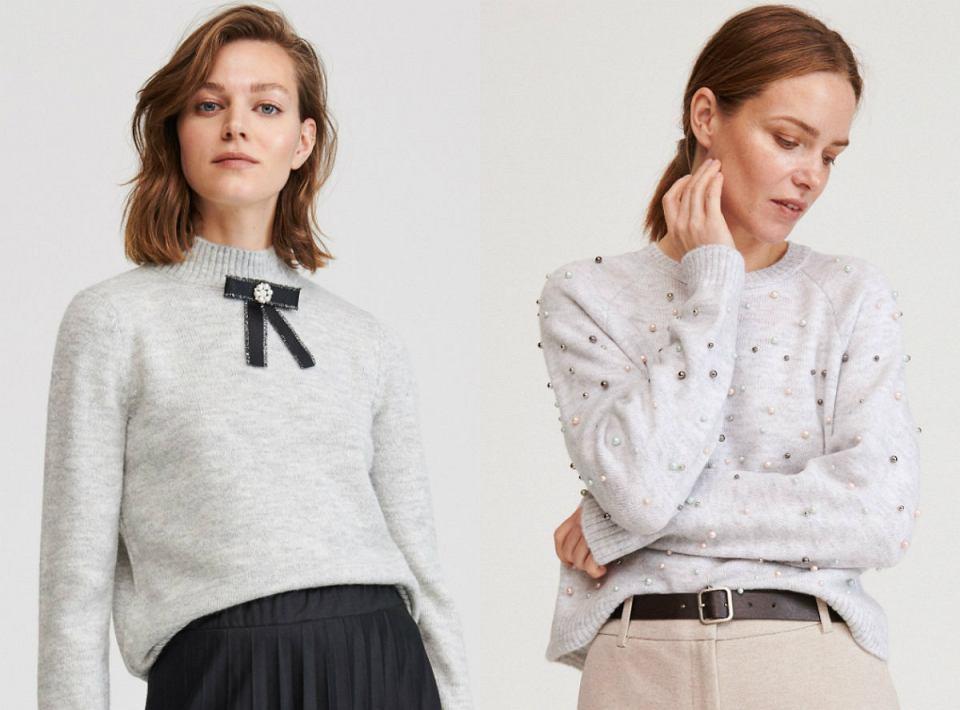 Szare swetry z sieciówek