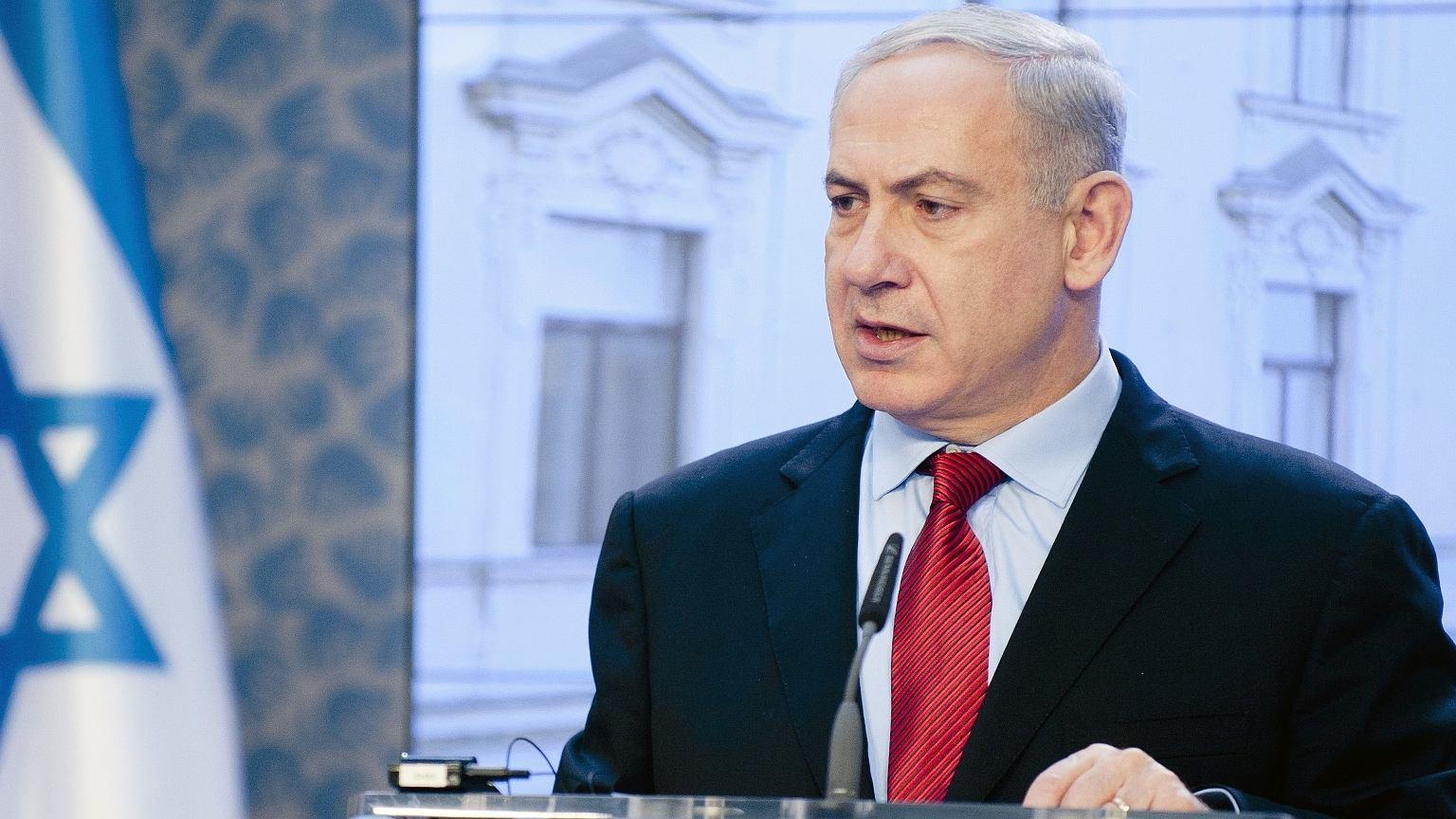 Beniamin Netanjahu podczas wizyty w Pradze, 5 grudnia 2012 r.