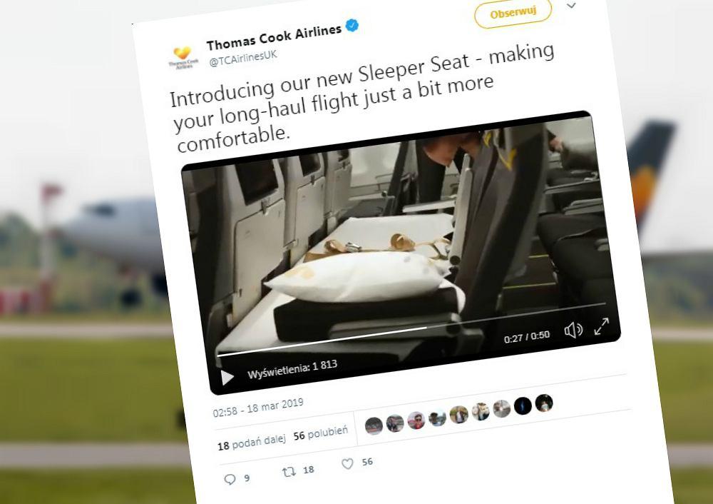 Linie lotnicze Thomas Cook wprowadzają nowe rozwiązanie w klasie ekonomicznej