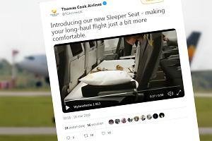 Linie lotnicze Thomas Cook wprowadzają w klasie ekonomicznej łóżka. Składane z trzech foteli